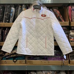 San Francisco 49ers Quilted Light Puffer Jacket